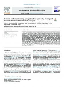 Synthesis, antibacterial activity, synergistic effect