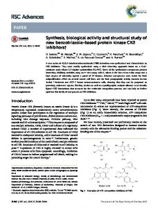 Synthesis, biological activity and structural study of new ... - KUL