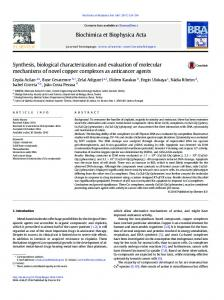 Synthesis, biological characterization and evaluation