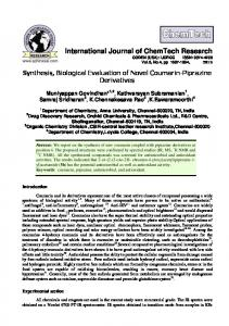 Synthesis, Biological Evaluation of Novel Coumarin-Piprazine ...
