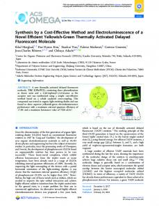 Synthesis by a Cost-Effective Method and ... - ACS Publications