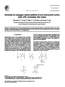 Synthesis by conjugate radical addition of new