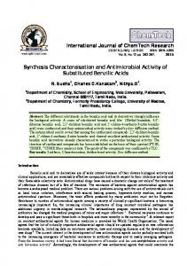 synthesis characteraisation and antimicrobial activity of substituted ...