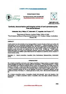 Synthesis, characterisation and biological activity of novel ...