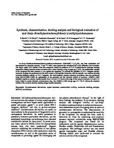 Synthesis, characterisation, docking analysis and biological ... - NOPR