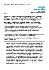 Synthesis, Characterization, Acetylcholinesterase ... - Semantic Scholar