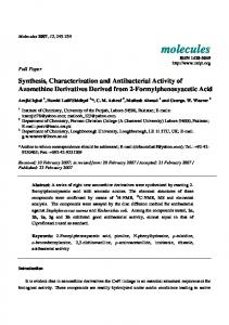 Synthesis, Characterization and Antibacterial Activity of Azomethine ...