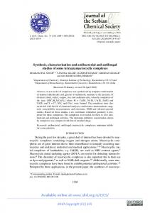 Synthesis, characterization and antibacterial and antifungal studies of ...