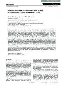 Synthesis, Characterization and Anticancer Activity of Porphyrin ...