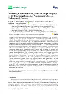 Synthesis, Characterization, and Antifungal Property of ... - MDPI