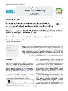Synthesis, characterization and antimicrobial ...