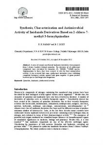 Synthesis, Characterization and Antimicrobial Activity of ... - Hindawi
