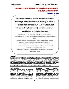 Synthesis, characterization and antimicrobial, antifungal and ... - ijapbc