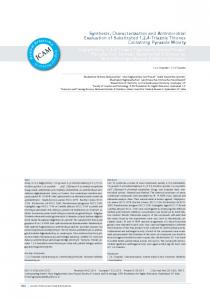 Synthesis, Characterization and Antimicrobial Evaluation of ...