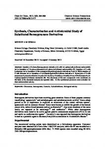 Synthesis, Characterization and Antimicrobial Study of Substituted