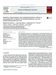 Synthesis, characterization and antioxidant/cytotoxic ...