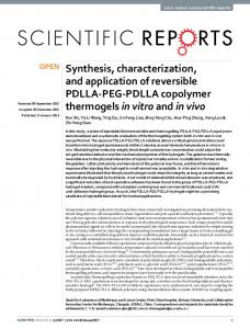Synthesis, characterization, and application of ... - Semantic Scholar