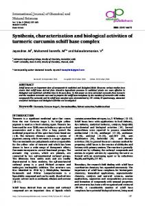 Synthesis, characterization and biological activities of ...
