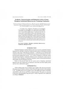 Synthesis, Characterization and Biological Activity of ...
