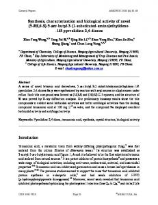 Synthesis, characterization and biological activity of novel - Arkivoc