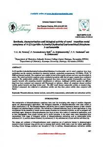 Synthesis, characterization and biological activity of