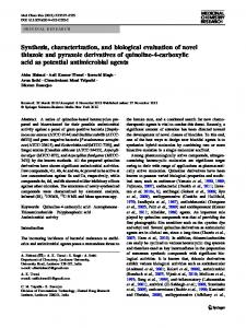 Synthesis, characterization, and biological evaluation ... - Springer Link