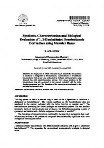 Synthesis, Characterization and Biological Evaluation ...