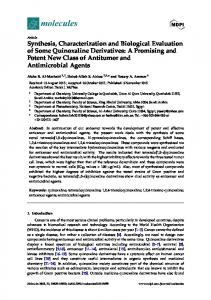Synthesis, Characterization and Biological ... - Semantic Scholar