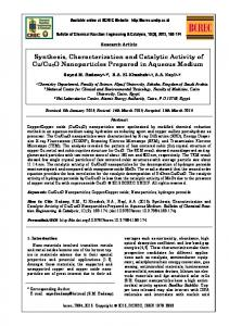 Synthesis, Characterization and Catalytic Activity of ... - E-journal UNDIP