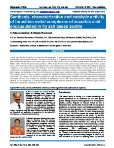 Synthesis, characterization and catalytic activity of transition metal ...