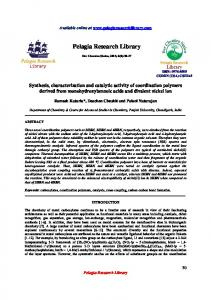 Synthesis, characterization and catalytic activity of ... - iMedPub