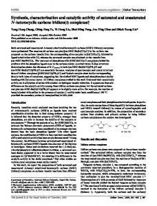 Synthesis, characterization and catalytic activity of saturated and
