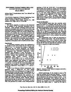 Synthesis, characterization, and catalytic evaluation of ...