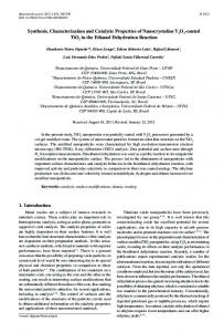 Synthesis, Characterization and Catalytic ... - repositorio@ufop.br
