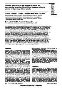 Synthesis, characterization and comparative study of the