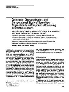 Synthesis, characterization, and computational study