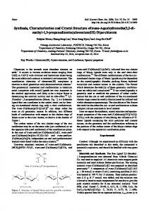 Synthesis, Characterization and Crystal Structure of trans ...