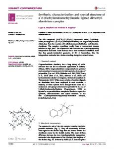 Synthesis, characterization and crystal structure of a 2 - IUCr Journals