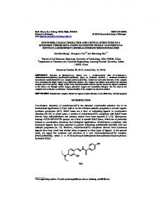 synthesis, characterization and crystal structure of a