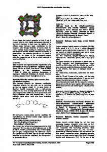 Synthesis, characterization and crystal structure of a three ... - IUCr