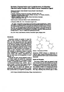Synthesis, Characterization and Crystal Structure ... - Semantic Scholar