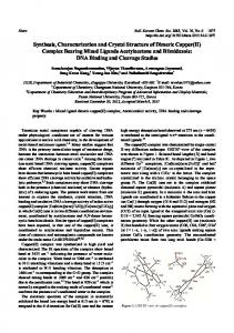 Synthesis, Characterization and Crystal Structure