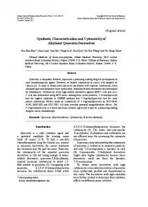 Synthesis, Characterization and Cytotoxicity of Alkylated Quercetin