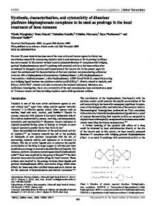 Synthesis, characterization, and cytotoxicity of dinuclear platinum ...