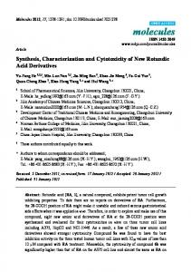 Synthesis, Characterization and Cytotoxicity of ... - Semantic Scholar