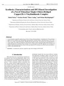 Synthesis, Characterization and DFT-Based Investigation of a Novel