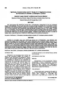 Synthesis, Characterization and DFT Study of 4,4