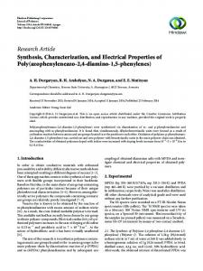 Synthesis, Characterization, and Electrical Properties of Poly