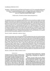 Synthesis, Characterization and Electrical Properties of N-([4 ... - UKM