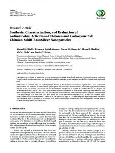 Synthesis, Characterization, and Evaluation of Antimicrobial Activities ...